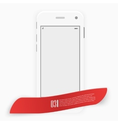 Smart Phone with Isolated Realistic white vector image