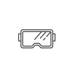 Snorkeling glasses diving mask thin line icon vector