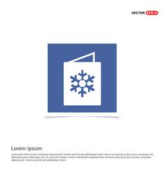 snowflake flat icon - blue photo frame vector image