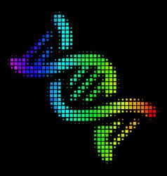Spectrum dotted dna spiral icon vector