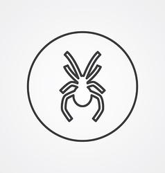 spider outline symbol dark on white background vector image