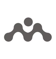 Synergy logo initial m vector