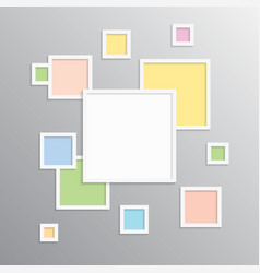 The frame for photo picture photo collage vector