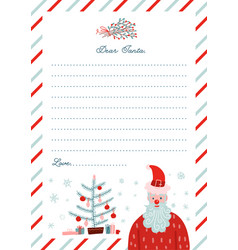 to santa claus template - flat vector image