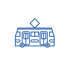 tramway line icon concept tramway flat vector image