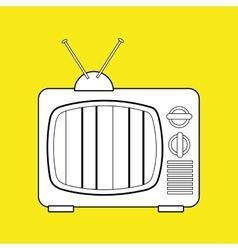tv retro design vector image