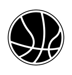 basketball ball isolated icon vector image