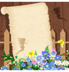 greeting rustic paper vector image vector image