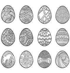 Happy Easter Set of different eggs for design vector image vector image