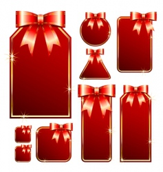 red tags with bow vector image
