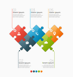 5 options infographic template vector image vector image