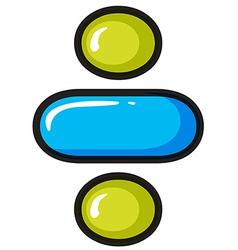 A divide symbol vector image