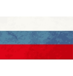 True proportions Russia flag with texture vector image vector image