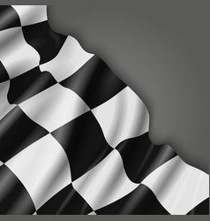 Abstract background with checkered racing vector image