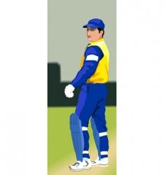 batsman on pitch vector image