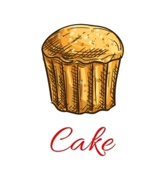 Cake sketch icon Patisserie emblem vector image