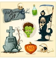 Creepy and horror elemens for Halloween designs vector image