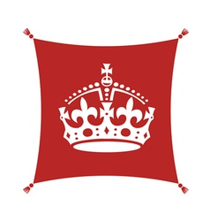 crown on cushion vector image vector image