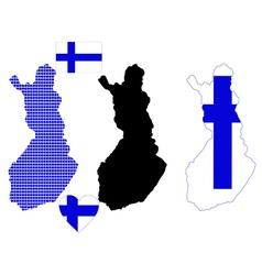 map of Finland vector image vector image