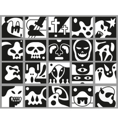 Monsters icons vector image
