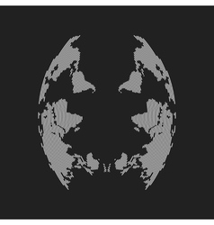 abstract face from inverted world map vector image