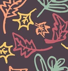 autumn leaves seamless pattern vector image vector image