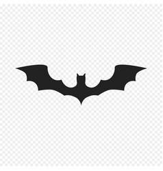 bat icon isolated on light background vector image