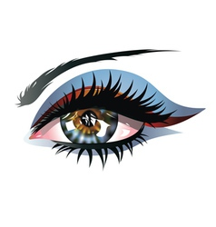 Blue Eye with Makeup vector image