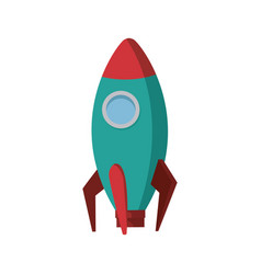 business startup launch concept rocket icon vector image vector image