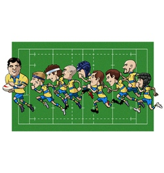 Cartoon rugby team vector image vector image
