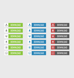 Download buttons set vector