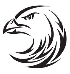 eagle head tatoo vintage engraving vector image