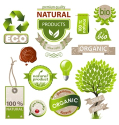 eco emblems vector image vector image