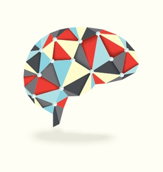 Human Brain Activity with Diamonds vector image
