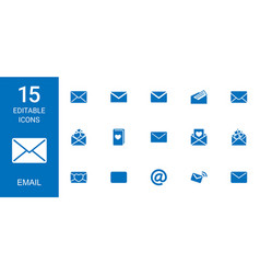 15 email icons vector