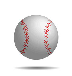 Abstract baseball image with 3d baseball vector