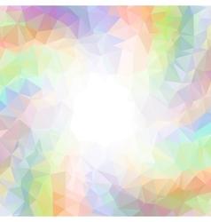 abstract colorful swirl rainbow polygon around vector image