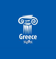 An ancient greek column vector