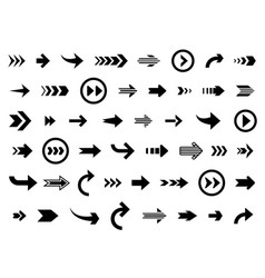 arrow cursor arrows forward backward direction vector image