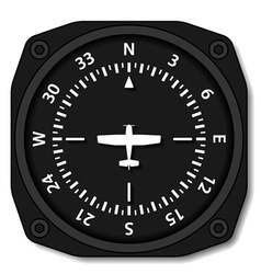 Aviation aircraft compass turns vector