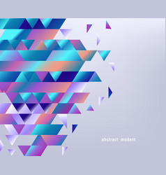 background with gradient colorful geometric shapes vector image