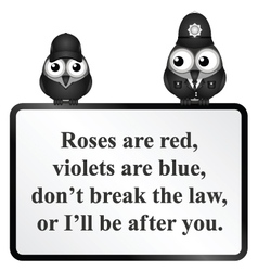 Break the Law UK Poem vector image