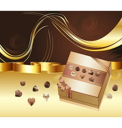 Brown Background with Chocolate Box5 vector
