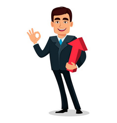 Business man cartoon character in formal suit vector