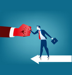 Businessman fighting obstacles vector