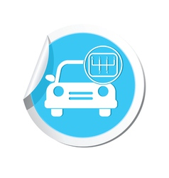 Cars transmission BLUE LABEL vector