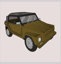 Carvolkswagen safarikurierwagen trekker vector