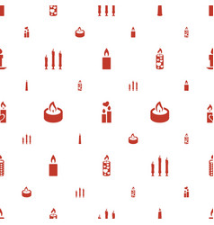 church icons pattern seamless white background vector image