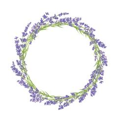 circle lavender flowers vector image