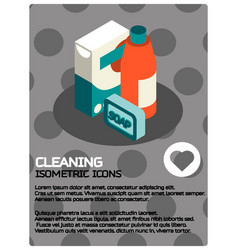 cleaning color isometric poster vector image